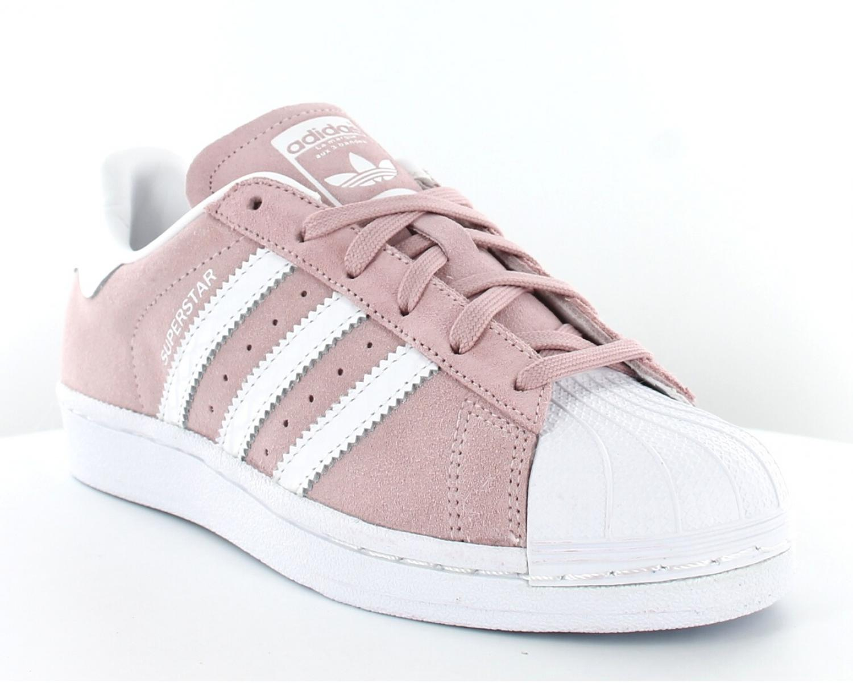 adidas femme superstars blanche et rose